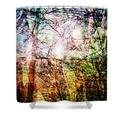 Shower Curtain featuring the mixed media Hoosier Country Opus 1 by Sandy MacGowan