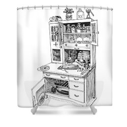 Hoosier Kitchen Shower Curtain by Jack Pumphrey