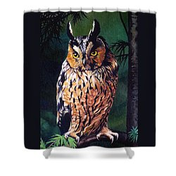 Hoot Owl Shower Curtain