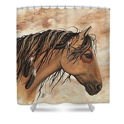 Hopa - Majestic Mustang Series Shower Curtain by AmyLyn Bihrle
