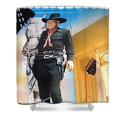 Hopalong Cassidy Cardboard Cut-out Tombstone Arizona 2004 Shower Curtain