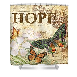Hope And Butterflies Shower Curtain by Jean Plout