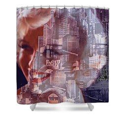 Hope And Tragedy Shower Curtain by Seth Weaver