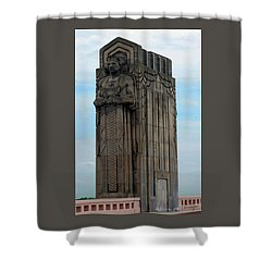 Hope Memorial Bridge Guardian Shower Curtain