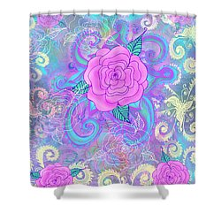 Hope Roses Shower Curtain by Alixandra Mullins