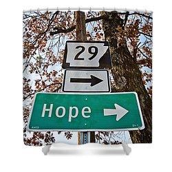 Hope Shower Curtain by Scott Pellegrin