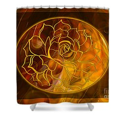 Shower Curtain featuring the digital art Hope Springs Eternal Abstract Healing Art by Omaste Witkowski