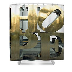 Shower Curtain featuring the photograph Hope Squared by Greg Allore