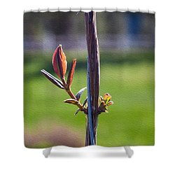 Hopeful Honeysuckle Shower Curtain by Omaste Witkowski
