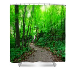 Hopkins Path Shower Curtain by Amanda Stadther
