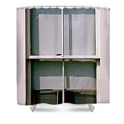 Hopper Was Here Shower Curtain by Ira Shander