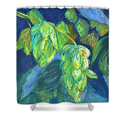 Hoppiness And Harmony Shower Curtain by Beverley Harper Tinsley