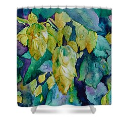 Hops Shower Curtain by Beverley Harper Tinsley