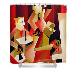 Horace Parlan Trio - Christiania - Copenhagen Shower Curtain by Thomas Andersen