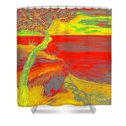 Horizon Shower Curtain by Loredana Messina