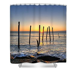 Horizon Sunburst Shower Curtain