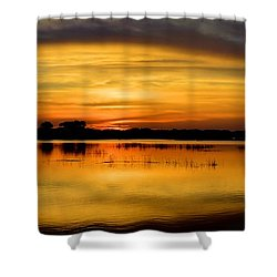 Horizons Shower Curtain by Bonfire Photography
