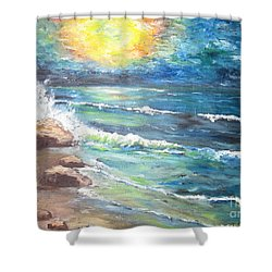 Horizons Shower Curtain by Cheryl Pettigrew
