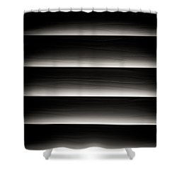 Horizontal Blinds Shower Curtain