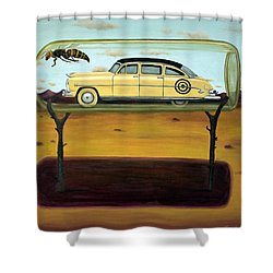 Hornets In A Bottle Shower Curtain by Leah Saulnier The Painting Maniac