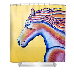 Shower Curtain featuring the painting Horse 1 by Joseph J Stevens