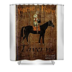 Horse And Hare Pub Shower Curtain by Cinema Photography