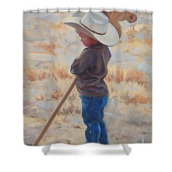Horse And Rider Shower Curtain