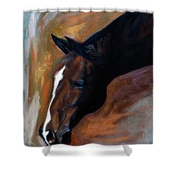 horse - Apple copper Shower Curtain by Go Van Kampen