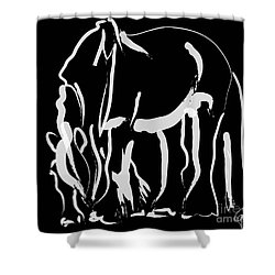 horse- Be strong Shower Curtain