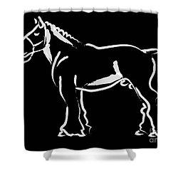 Horse - Big Fella Shower Curtain