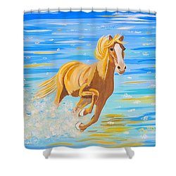 Shower Curtain featuring the painting Horse Bright by Phyllis Kaltenbach