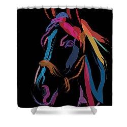 Horse-colour Me Beautiful Shower Curtain by Go Van Kampen