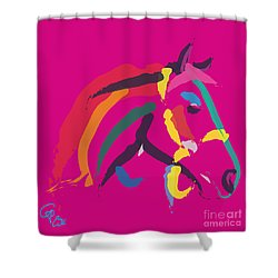 Horse - Colour Me Strong Shower Curtain