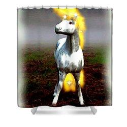 Shower Curtain featuring the digital art Horse by Daniel Janda