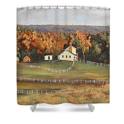 Horse Farm Shower Curtain