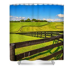 Horse Farm Fences Shower Curtain