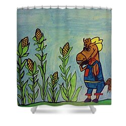 Horse Farmer Shower Curtain by Christy Saunders Church