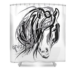 Horse- Hair And Horse Shower Curtain