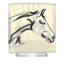 Shower Curtain featuring the painting Horse - Lovely by Go Van Kampen