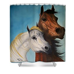 Horse Lovers Shower Curtain by Patrick Trotter