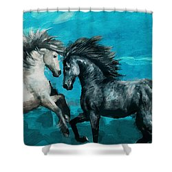Horse Paintings 011 Shower Curtain by Catf