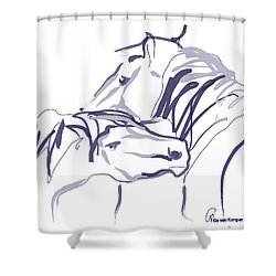 Horse - Together 10 Shower Curtain