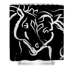 Horse- Together 5 Shower Curtain