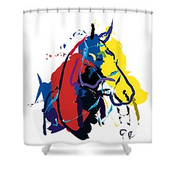 Horse- Zam Shower Curtain by Go Van Kampen