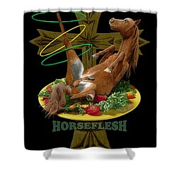 Horseflesh Shower Curtain by Scott Ross