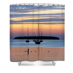 Horsehoe Island Sunset Shower Curtain