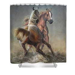 Horseplay Shower Curtain