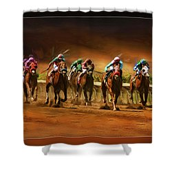 Horse's 7 At The End Shower Curtain