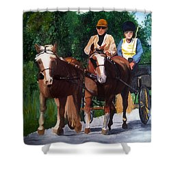 Sunday Afternoon Drive Shower Curtain