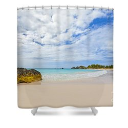 Horseshoe Bay Shower Curtain by Verena Matthew